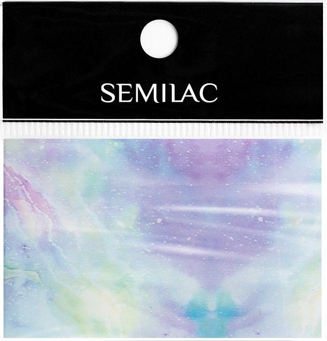 SEMILAC Folia transferowa 09 Pink&Blue Marble foil
