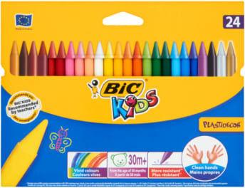 Kredki świecowe BIC Plastidecor 24 kolory 8297721