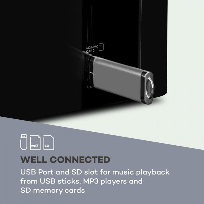 Auna Areal Touch 5.1 Zestaw audio 200 W maks. Subwoofer OneSide BT USB SD