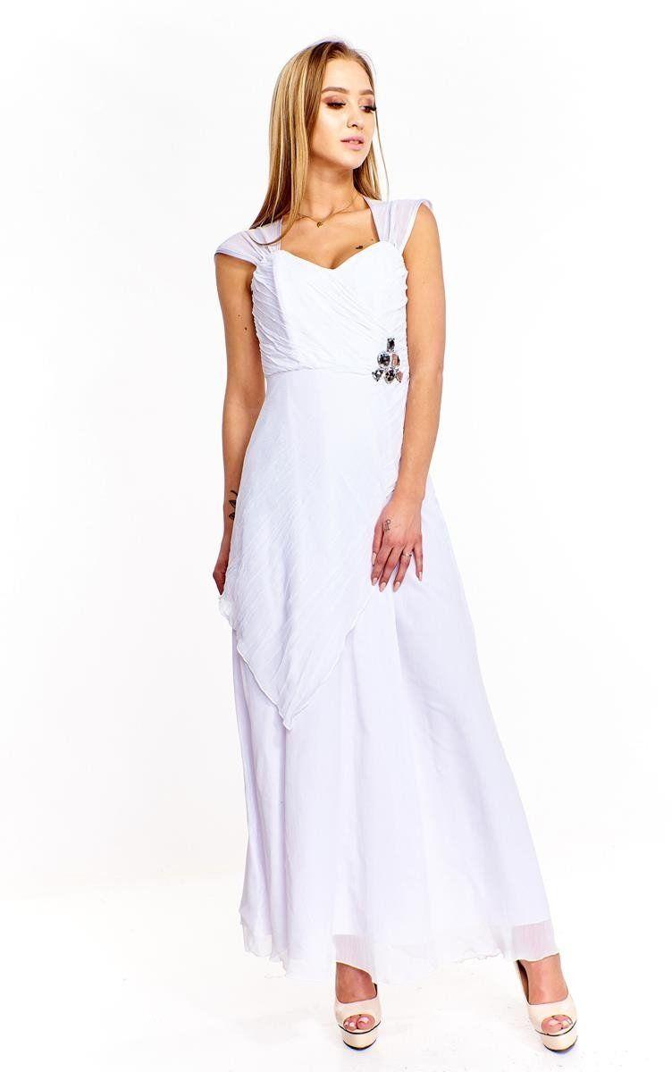 Sukienki Sukienka Suknie FSU167 BIAŁY