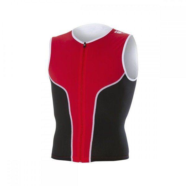 ZEROD Koszulka triathlonowa iSinglet Męska Czerwona