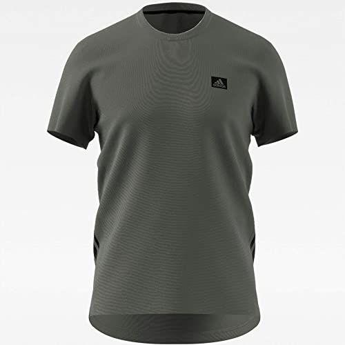 adidas Męski T-shirt D2M Motion, Leggrn/Black, XS