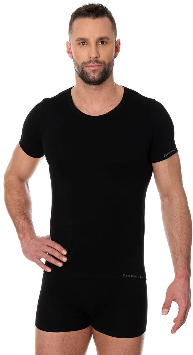 Bezszwowa koszulka męska Brubeck Comfort Cotton SS00990 czarna