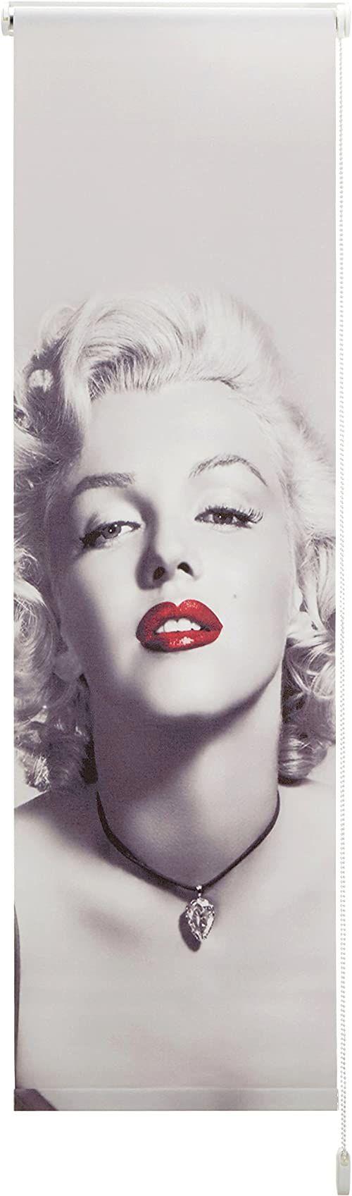 Startex, Marilyn Monroe DS 5040 osłona przeciwsłoneczna z cyfrowym nadrukiem roleta z montażem na ścianie i suficie, 45 x 140 cm, nieprzejrzysta, biała