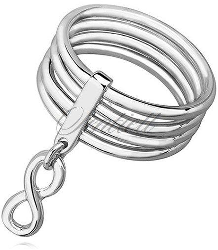 Srebrny, duży pierścionek pr.925 wysoki połysk - nieskończoność