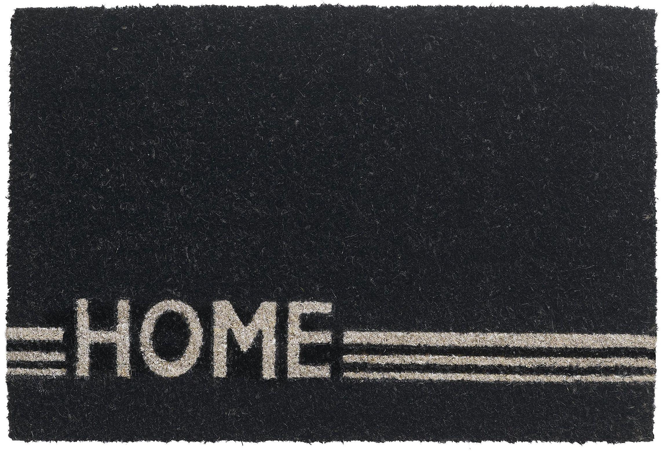 """HMT 14770640 wycieraczka """"Home"""", włókno kokosowe, 40 x 60 cm, czarna"""