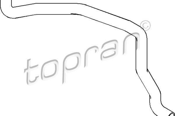 Przewód elastyczny chłodnicy TOPRAN 109 193