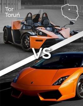 Jazda Lamborghini Gallardo vs KTM X-BOW  Tor Toruń