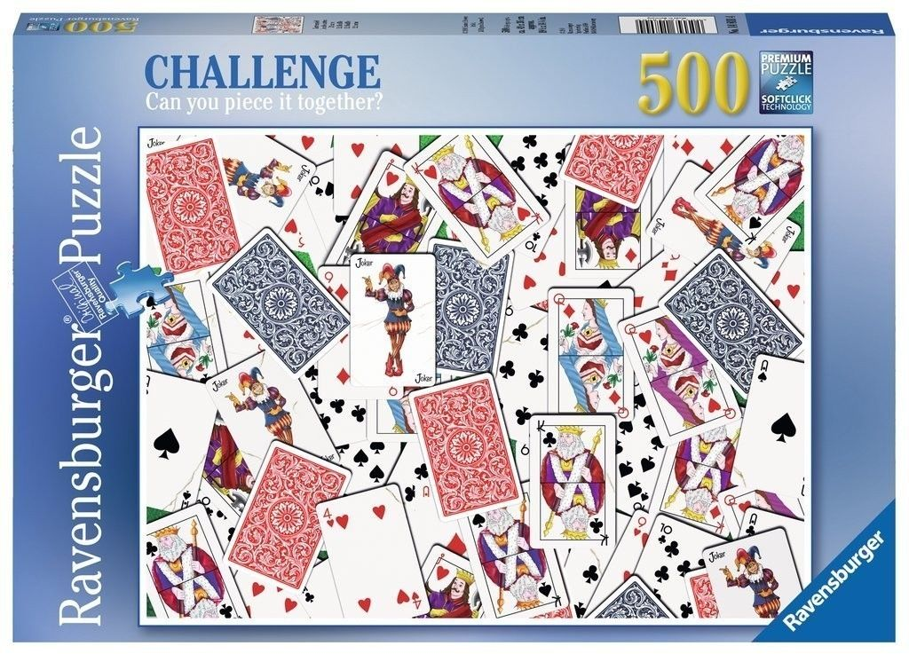 Puzzle Raven 500 - Potasowane karty, 52 Shuffle