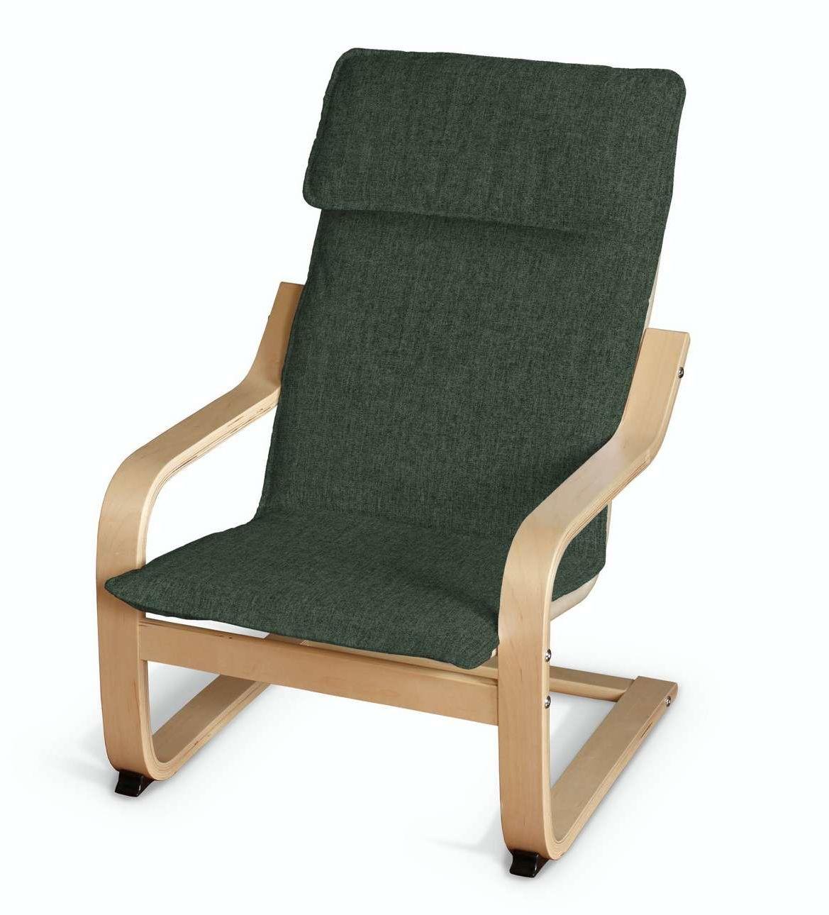Poduszka na fotelik dziecięcy Poäng, leśna zieleń szenil, fotelik dziecięcy Poäng, City