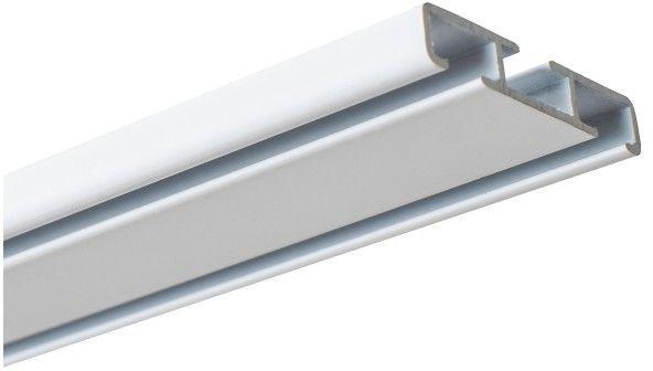 Szyna sufitowa 300 cm biały/aluminium