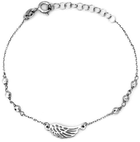 Srebrna bransoletka 925 z ażurowym skrzydłem 1,36g