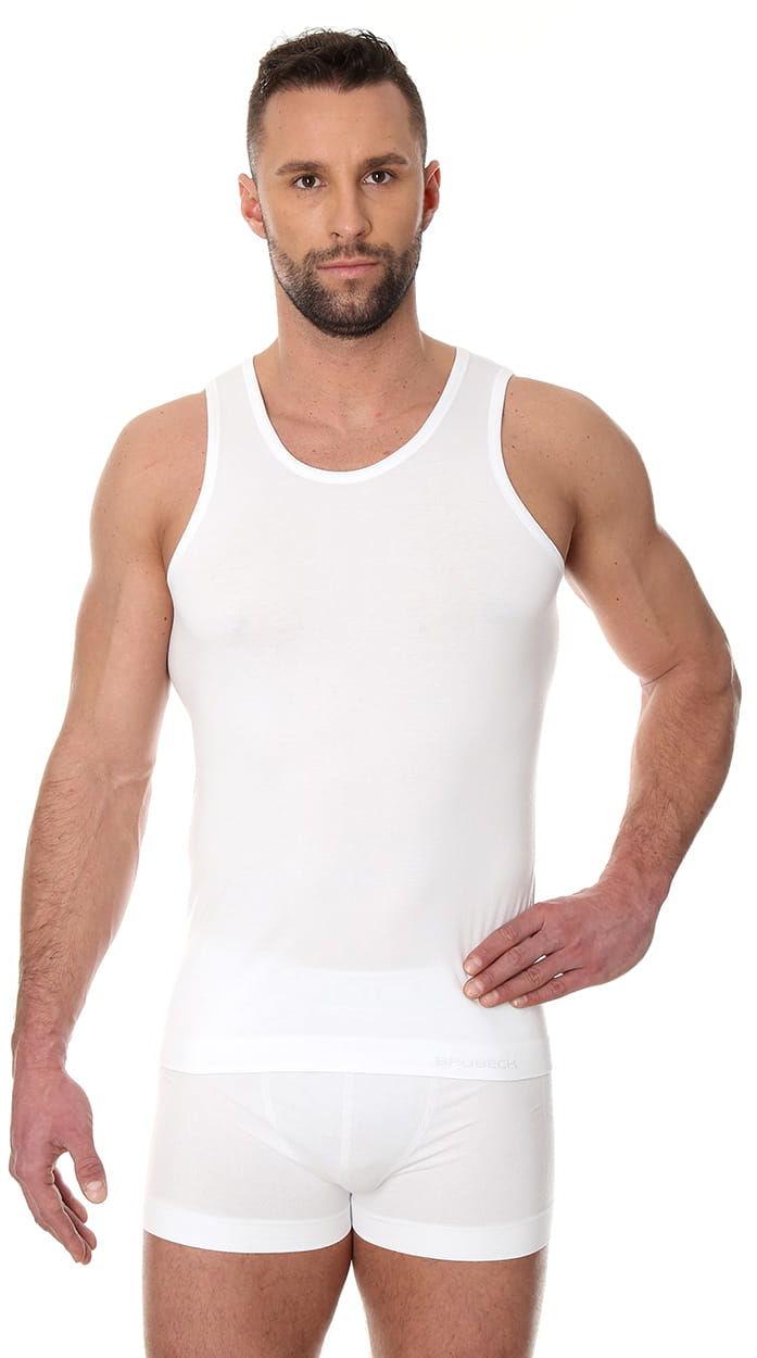 Bezszwowa koszulka męska Brubeck Comfort Cotton TA00540 biała