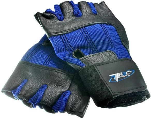 Trec - Rękawice treningowe CLASSIC STRIPE (niebieskie)