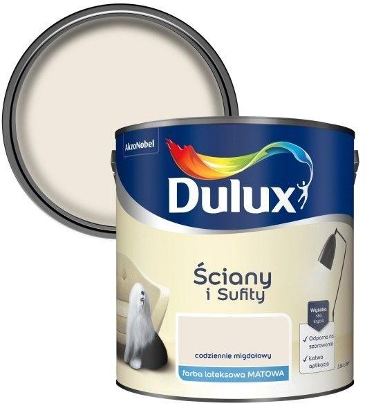 Farba Dulux Ściany i Sufity codziennie migdałowy 2,5 l