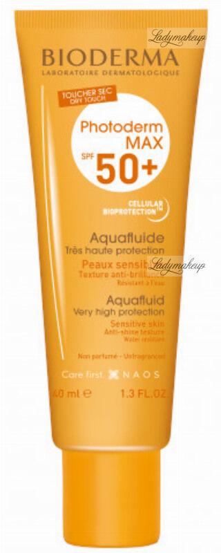 BIODERMA - Photoderm MAX Aquafluide SPF 50+ Wodoodporny ultra lekki fluid do twarzy - Bezbarwny - 40 ml