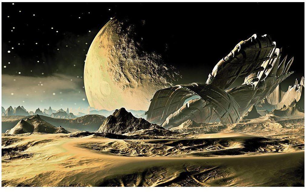 Fototapeta Z innej planety 368 x 254 cm