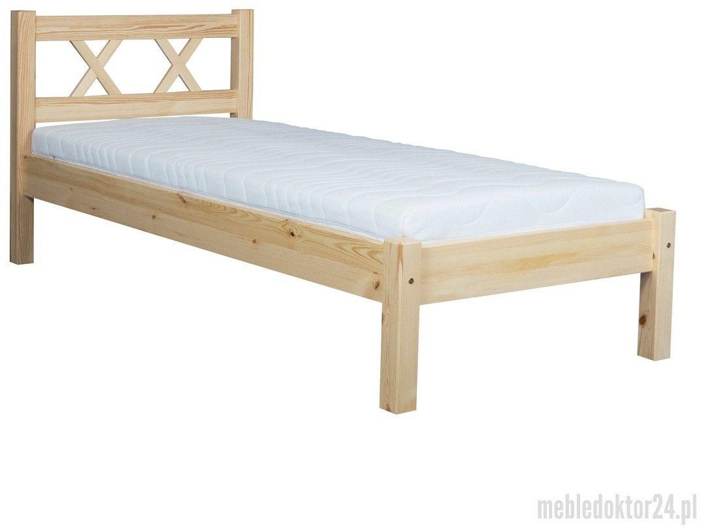 Łóżko Modern Meble Doktór sosnowe, Rozmiar: 90 x 200 cm, Kolor: Kolor naturalny