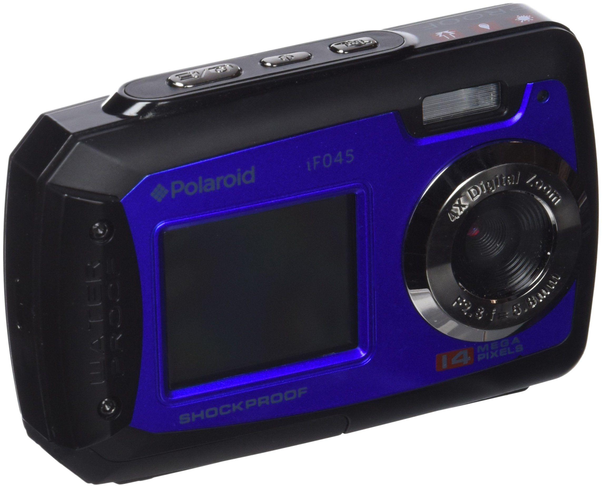 """Polaroid IF045 - kompaktowa kamera 14 MP (2,8"""", 4 x zoom cyfrowy), niebieska"""