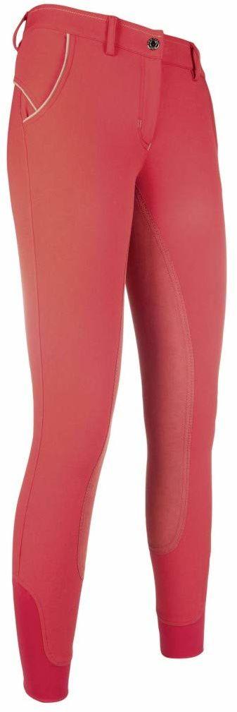 HKM dorośli spodnie jeździeckie County ZOE-3/4 Alos, obszyte spodnie, 3000 czerwony, 176