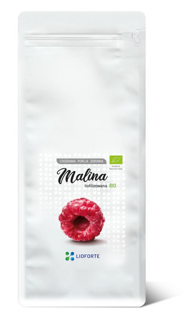 Liofilizowana MALINA BIO 150g PREMIUM