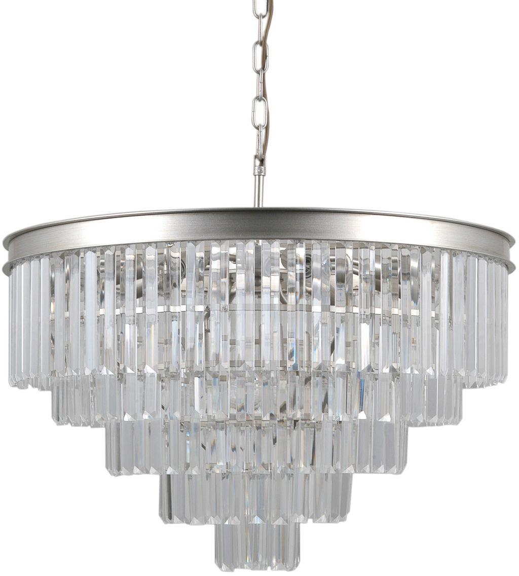 Italux Verdes PND-44372-11A-SLVR-BRW lampa wisząca stal szkło krystaliczne 67cm IP20 11xE14 40W