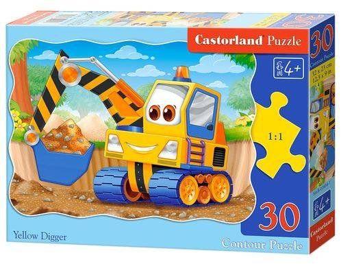 Puzzle 30 Żółta koparka B-03464 - CASTOR