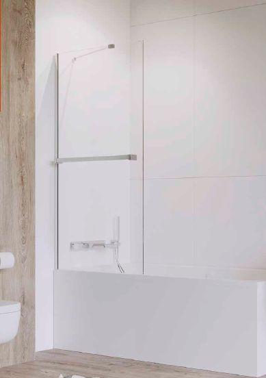 Radaway parawan nawannowy Idea PNJ 50 + wieszak, szkło przejrzyste, wys. 150 cm 10001050-01-01W