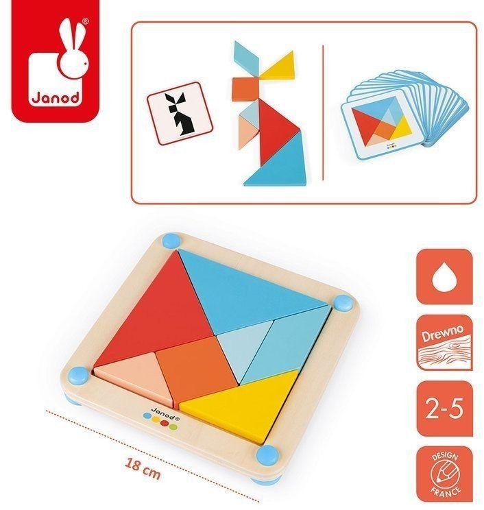 Drewniana układanka-tangram Essentiel, Janod J05070
