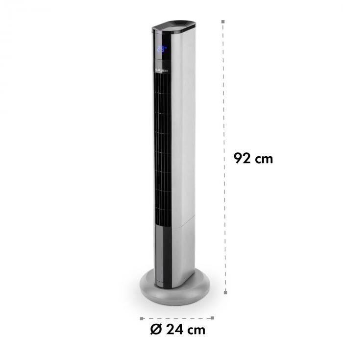 Klarstein Skyscraper 3G wentylator kolumnowy panel dotykowy pilot zdalnej obsługi srebrny