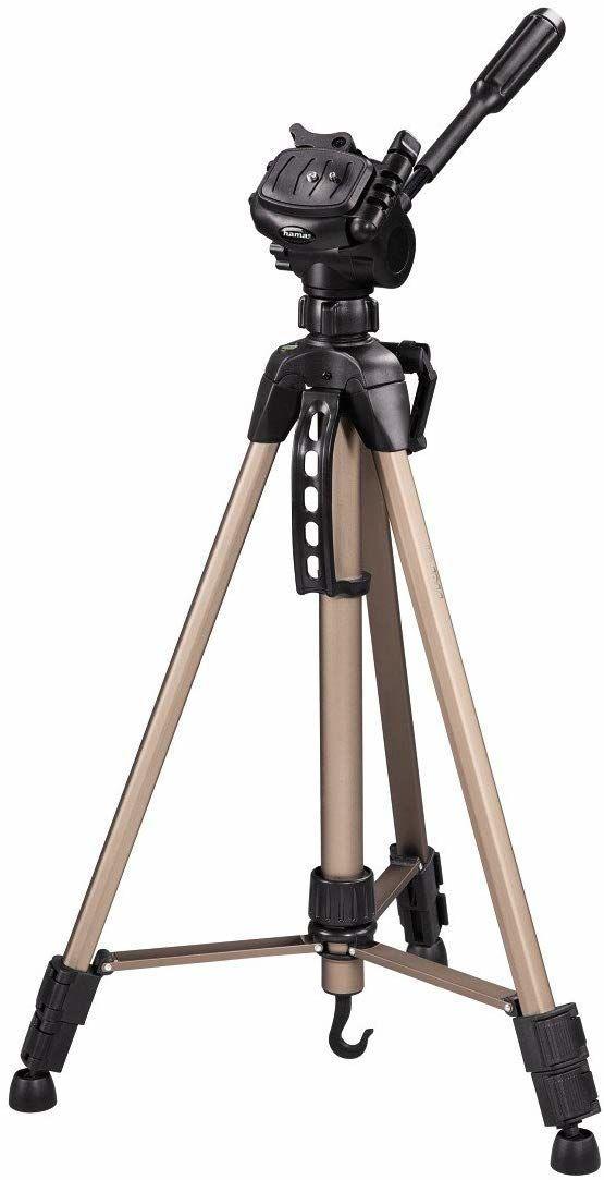 Hama Statyw do aparatu Star 61 lekki trójnożny statyw z głowicą 3-drożną, statyw fotograficzny o wysokości 60-153 cm, tripod z torbą do noszenia, szampan