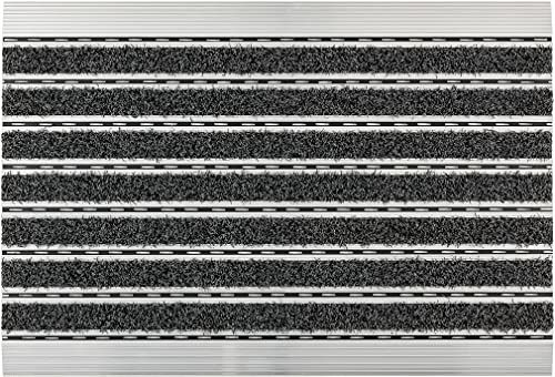 ASTRA Wycieraczki  antracytowe  rama aluminiowa  bardzo wytrzymałe  drobna lub gruba struktura  mata na drzwi  mata  mata  czyste  60 x 40 x 1 cm