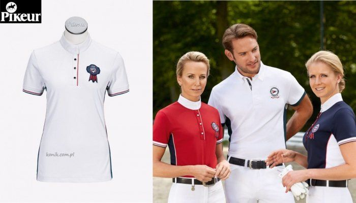 Koszula konkursowa z flo damska - PIKEUR - biała