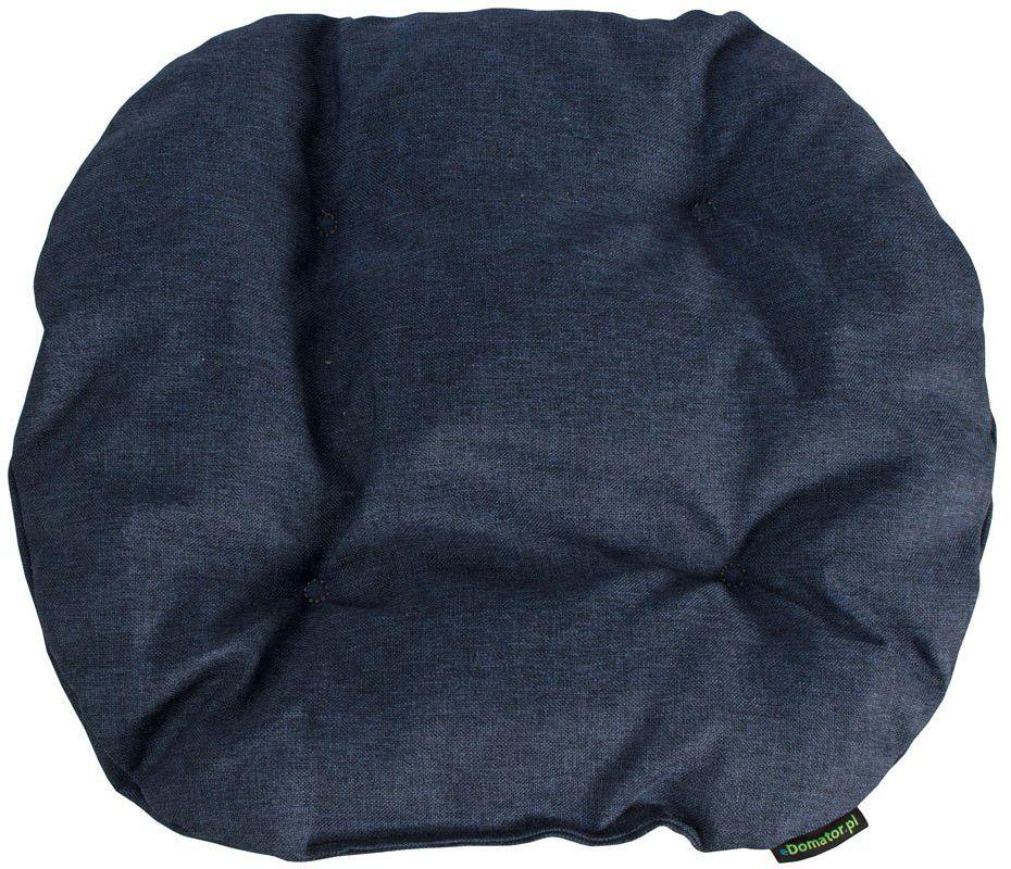 Poduszka na krzesło KAMILA 43 x 40 cm - granatowa - granatowy