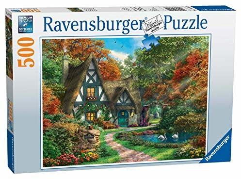 Puzzle Raven 500 - Wiejski domek jesienią, Cottage Hideaway