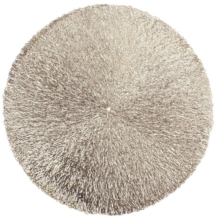 Podkładka na stół Bolide okrągła śr. 38 cm złota