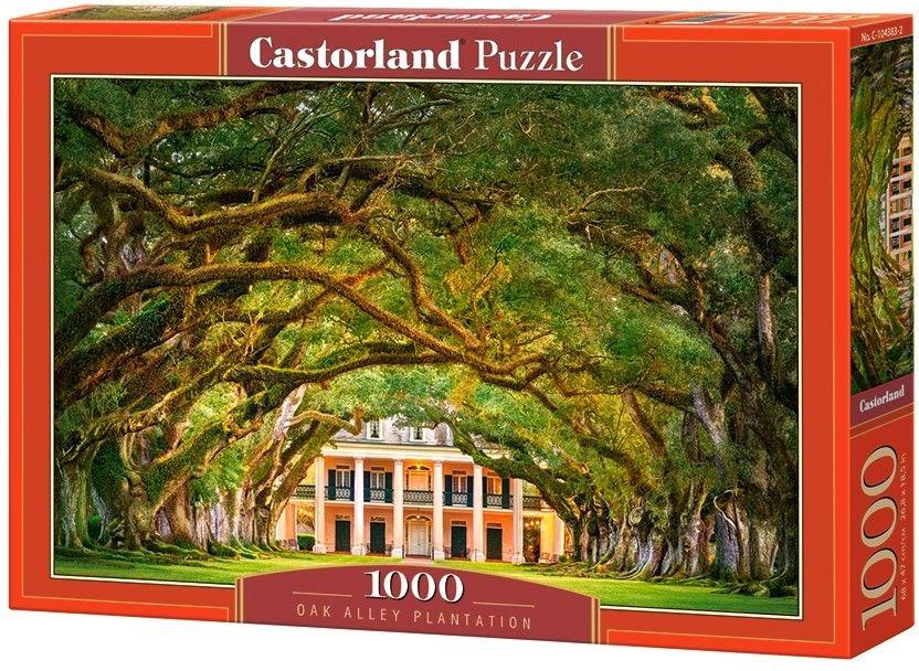 Puzzle Castor 1000 - Plantacja Dębowa Aleja, Oak Alley Plantation