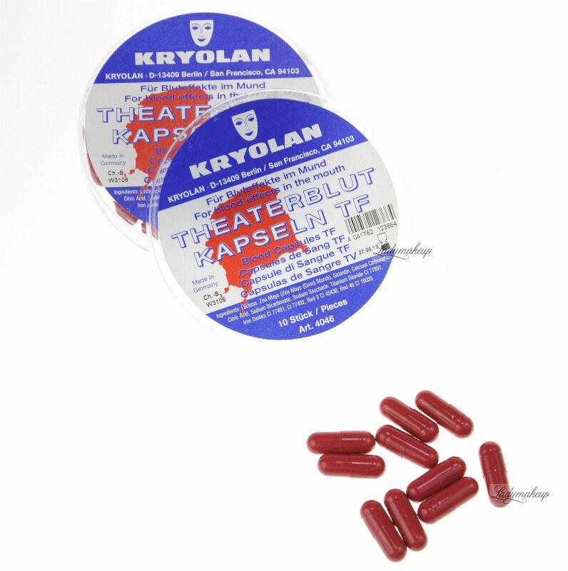 KRYOLAN - Sztuczna krew w kapsułkach - 10 sztuk - Art. 4046