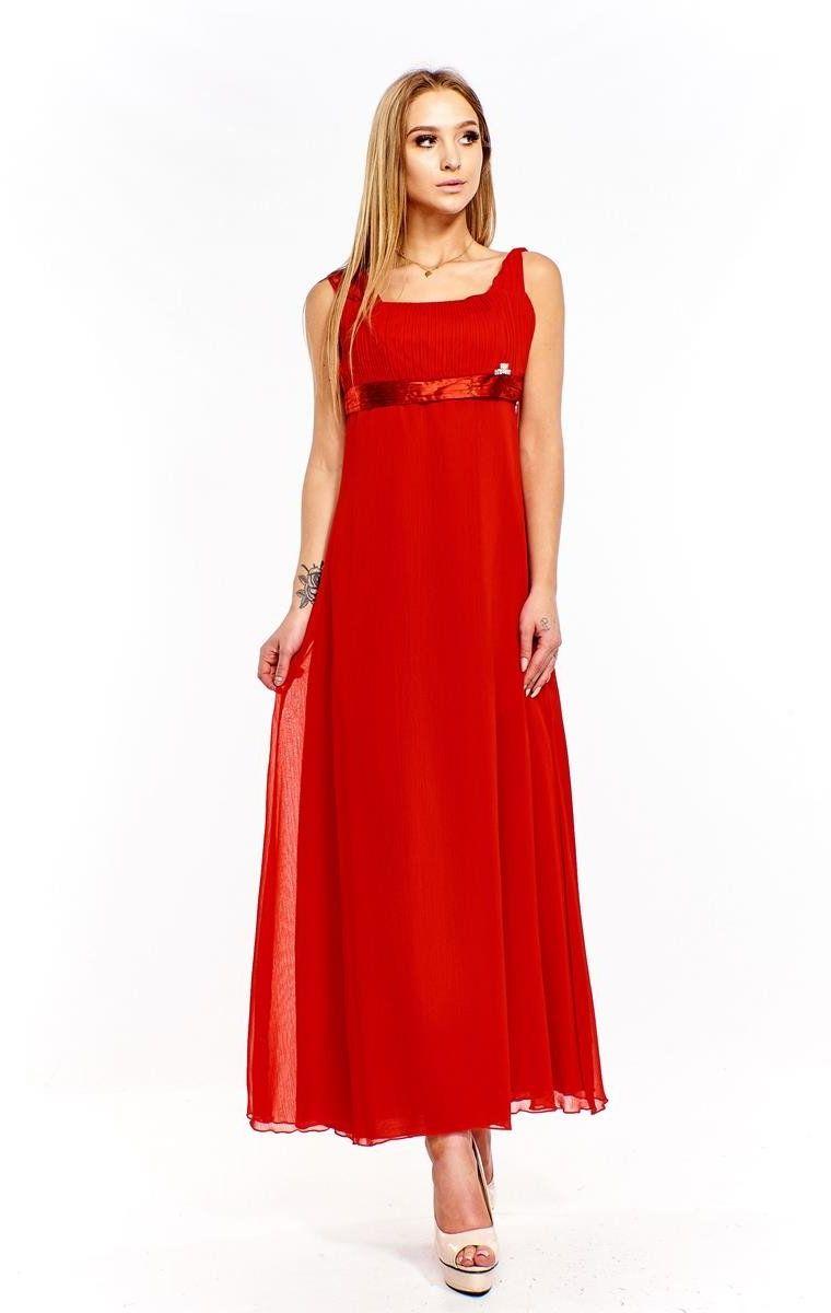 Sukienki Sukienka Suknie FSU158 CZERWONY
