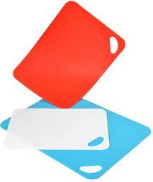 Habi zestaw 3 desek do krojenia z poliproplenem, antypoślizgowe, różne, plastikowe, wielobarwne