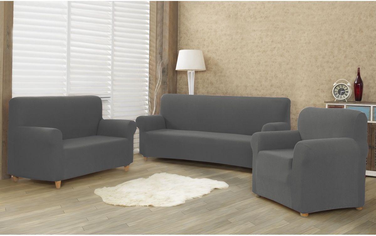 4Home Multielastyczny pokrowiec na kanapę Comfort, szary, 180 - 220 cm, 180 - 220 cm