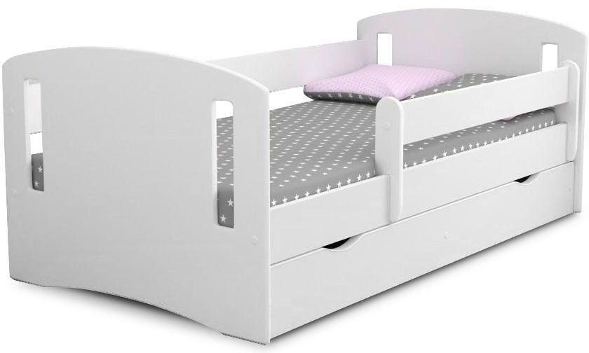 Łóżko dziecięce z materacem Pinokio 3X 80x140 - białe