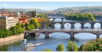 Puzzle Castor 4000 - Mosty Wełtawy, Praga, Vltava Bridges in Prague
