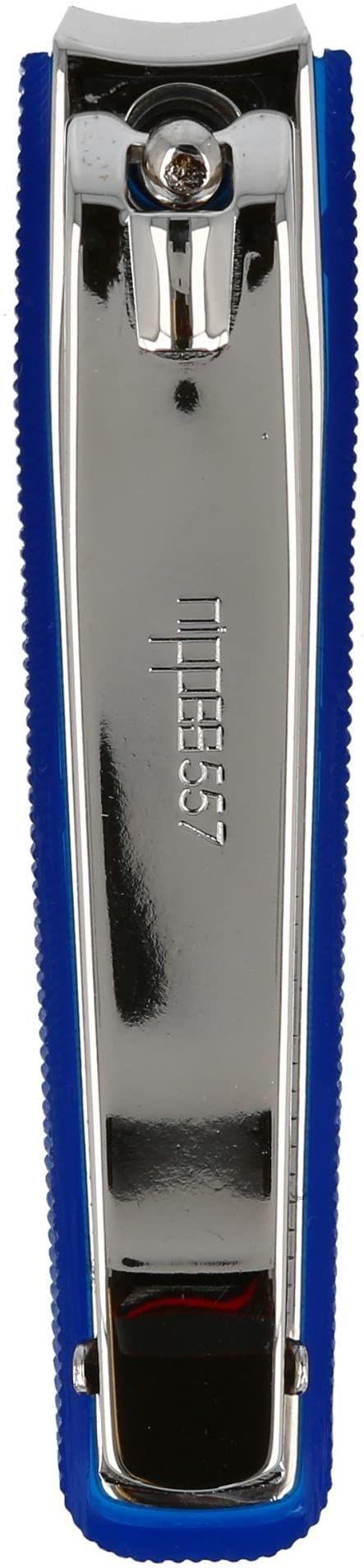 nippes Solingen, Obcinacz do paznokci stóp z pojemnikiem na paznokcie 8 cm, niebieski, 1 sztuka