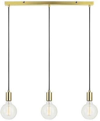 Markslojd lampa wisząca Sky 106335 mosiądz potrójna na listwie 68cm / 24h