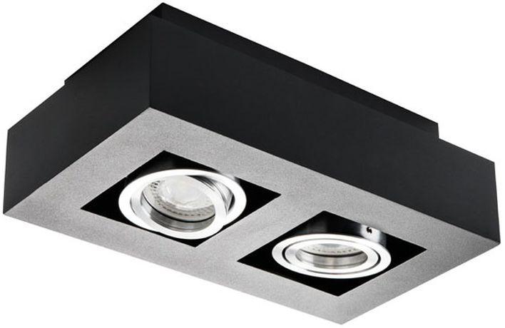 Oprawa punktowa sufitowa GU10 2x50W STOBI DLP 250-B czarna 26832