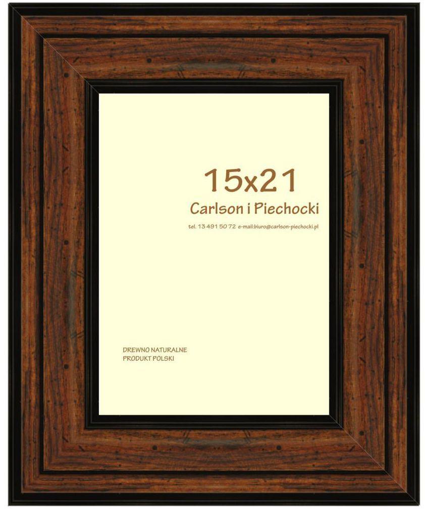 Ramka na zdjęcia Carre 15 x 21 cm orzech drewniana