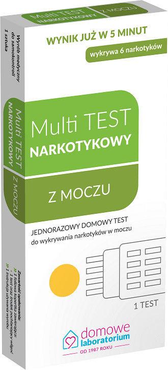 Domowe Laboratorium Multi test narkotykowy z moczu
