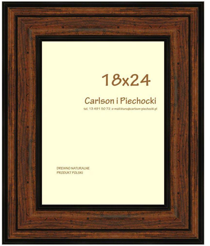 Ramka na zdjęcia Carre 18 x 24 cm orzech drewniana