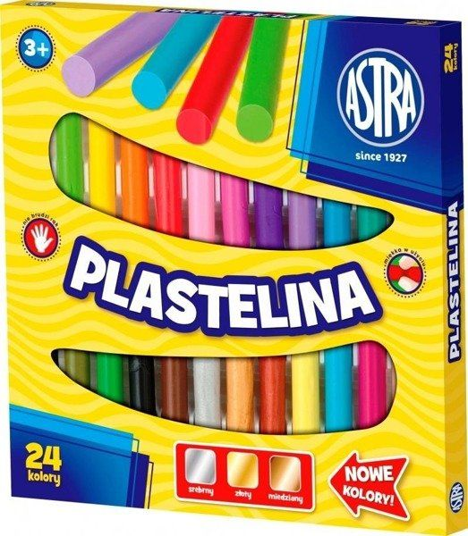 Plastelina 24 kolory ASTRA - ASTRA papiernicze
